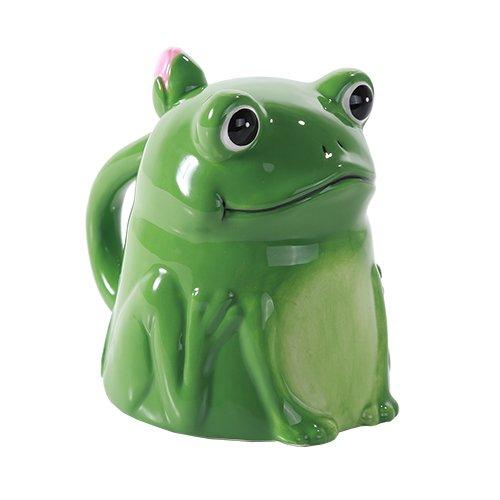 Topsy Turvy Coffee Mug Adorable Mug Upside Down Tea Home Office Decor (Frog)
