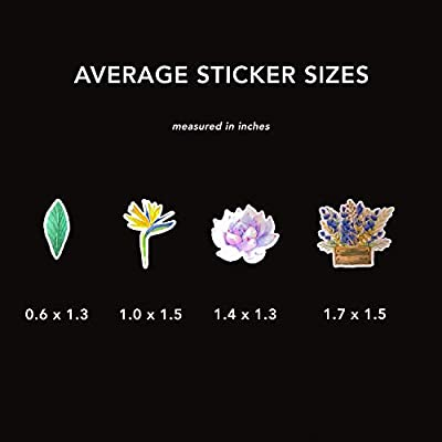 Artsy Decals for Your Scrapbook and Planners Spring Flower Plant and Nature Stickers 32 Pieces Laptops and Phones Cute Boho Stickers for Your Water Bottles Navy Peony Garden of Dream Catcher