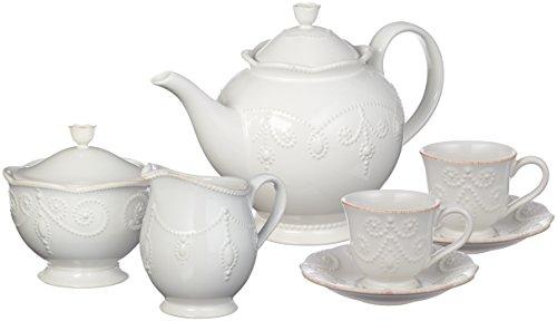 Lenox Tea Set - Lenox French Perle Tea Set, 7-piece, White