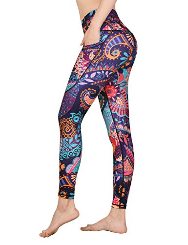 f17aa863525bd DOVPOD Printed Yoga Pants High Waist Fitness Plus Size Workout Leggings  Tommy Control Capris for Women