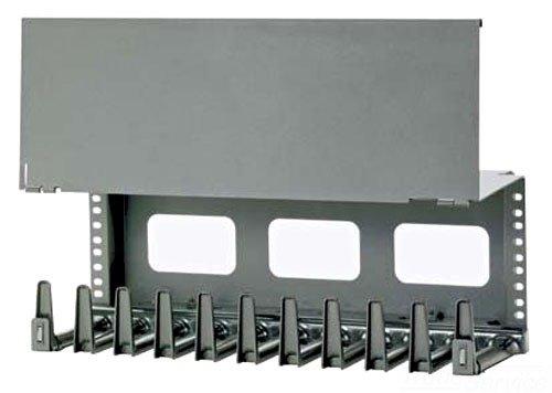 [해외]Panduit NCMHAEF4 4 RU 수평 케이블 관리자, 검정색/Panduit NCMHAEF4 4 RU Horizontal Cable Manager, Black