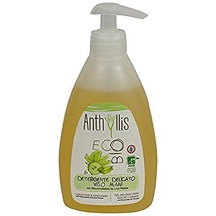 ANTHYLLIS - Detergente Viso Biologico con Vite Rossa e Ribes Nero - Delicato ed Antiossidante Yumi Bio Shop