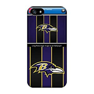 Scratch Protection Hard Cell-phone Cases For Iphone 5/5s With Custom Stylish Baltimore Ravens Pattern AlissaDubois