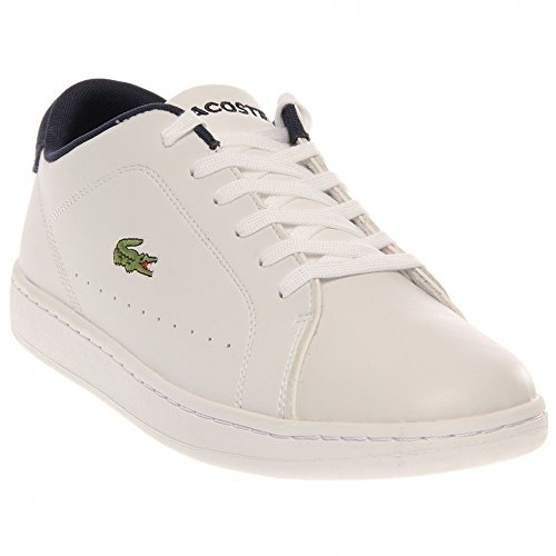 Lacoste Mens Carnaby Ca Dress Casual Fashion Sneakers,White/Navy,10.5