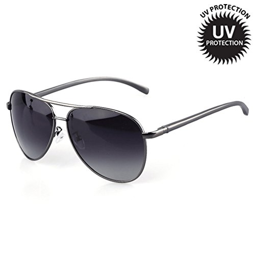 LOMOL Fashion Cool Gradient Lens Aviator Style Uv Protection - Is Polarized What Uv Protection And Between The Difference