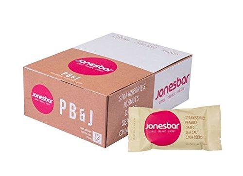 Jonesbar, Simple Organic Energy, PB & J, 1.7oz, Pack of 12