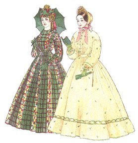 Steampunk Sewing Patterns- Dresses, Coats, Plus Sizes, Men's Patterns 1858-1862 Fashionable Skirts Pattern $16.50 AT vintagedancer.com