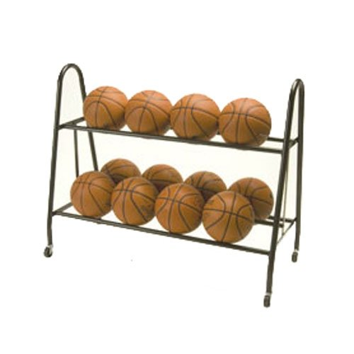 Tandem Sport Ultimate Ball Storage Rack Holds 12 Basketballs TS12BALLCART