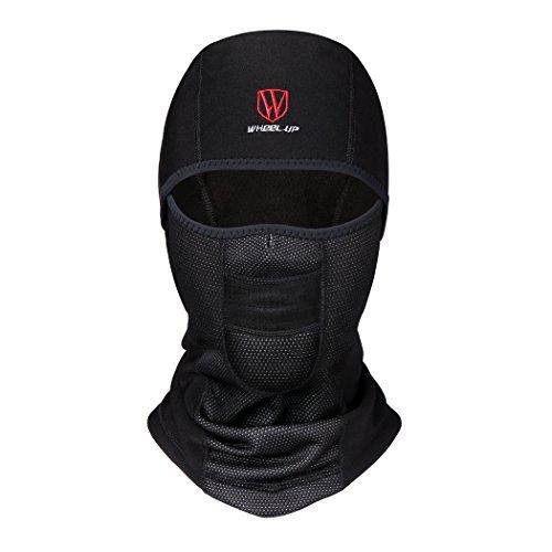 Wheel up Wind Proof Balaclava Face Mask Mens Women Ski Mask For Cycling Motorcycling Riding (Lycra Black)