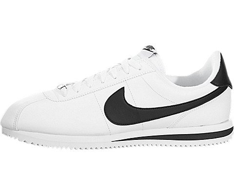 fc9b14153f80 Galleon - Nike Men s Cortez Basic Leather White Black Metallic Silver  Casual Shoe (7.5)