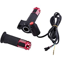 3 Gears Speed Switch Bike Grips Cover With LED Display Screen Accelerator Handle For Electric Bicycle