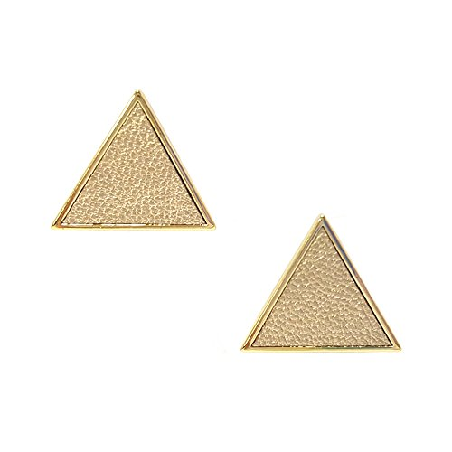 Artnouveau Elle Triangle Shaped Leather Stud Earrings - Tory Old Burch Collection