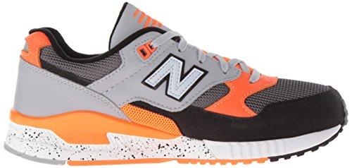 New Balance Womens W530 Classic Running Sneaker Moda Nero / Piombo / Lava
