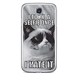Selfie Samsung Galaxy S4 Transparent Edge Case - Hashtag Selfie Icons