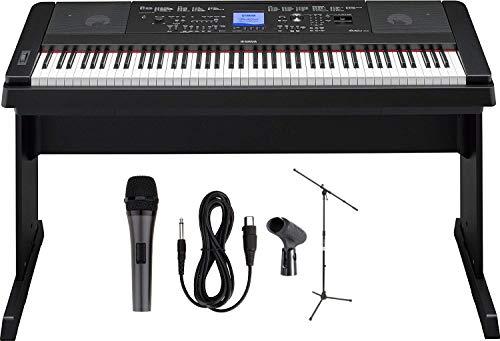 Yamaha DGX-660 88-Key Digital Grand Piano with Mic and Mic Stand
