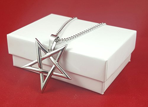 Inverted Pentagram Pentacle 316L Stainless Steel