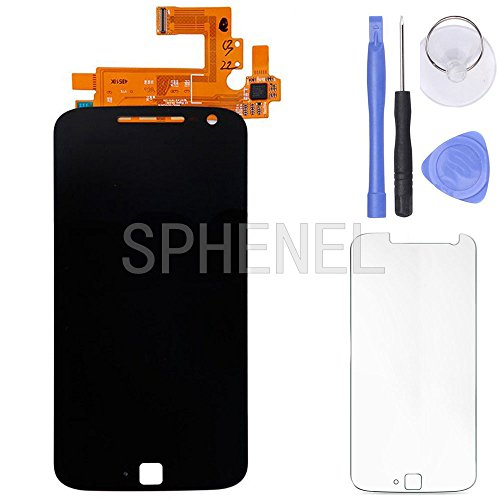 Price comparison product image SPHENEL LCD Display Screen And Digitizer Touch Screen Assmebly For Motorola Moto G4 Plus LTE XT1640 XT1641 XT1642 XT1644 (Black)