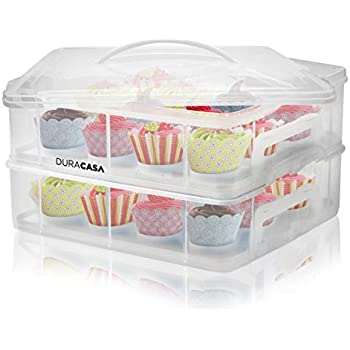 Amazon Com Duracasa Cupcake Carrier Cupcake Holder
