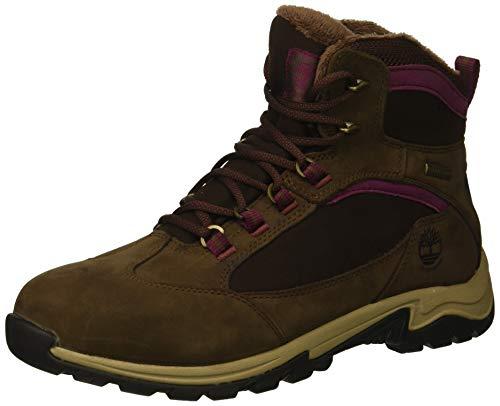 Nubuck Waterproof Boot - Timberland Women's MT. Maddsen Winter Waterproof Ins Hiking Boot, Dark Brown Nubuck, 7.5 M US