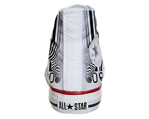 Converse All Star chaussures coutume mixte adulte (produit artisanal) Zebra Barcode