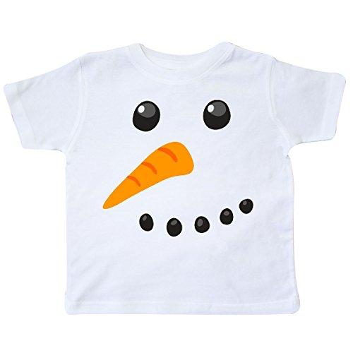 inktastic - Snowman Face Toddler T-Shirt 4T White e97c