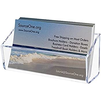 Amazon source one magnetic business cardgift card clear source one magnetic business cardgift card clear holder display s1 magnet colourmoves