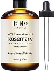 Del Mar Naturals Rosemary Oil, 100% Pure & Natural Therapeutic Grade Rosemary Essential Oil, 2 fl. oz.