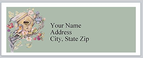 (120 Personalized Address labels Primitive Country Birdhouse (P 269))