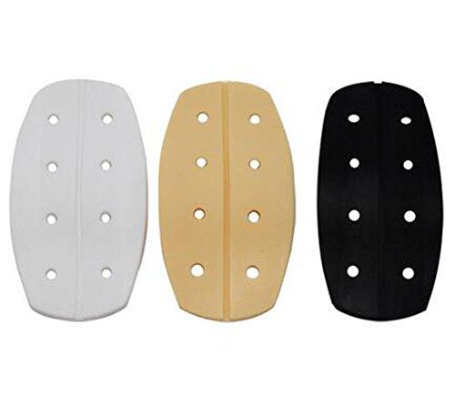(YOYOSTORE 3 Pair Hole Silicone Bra Strap Cushions Holder Non-Slip Pliable Shoulder Protectors Pads Ease Shoulder Discomfort)