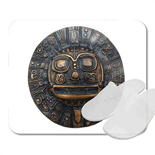 Bathroom Rugs for Bath Mat Aztec Ancient Symbol Inca Calendar Mexican Mexico American, Non Slip Bath Rug Velvet Foam Bathroom mat for Shower Floors 15.7X23.6Inch 2D3352 ()