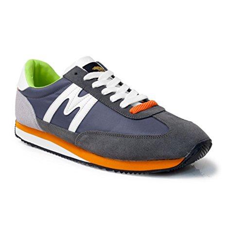 Karhu CH - Zapatillas de running para hombre, color gris / naranja / blanco / verde