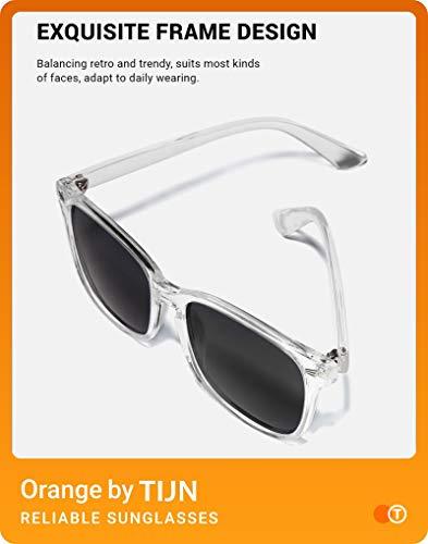 TIJN Polarized Sunglasses for Women Men Classic Trendy Stylish Sun Glasses 100% UV Protection