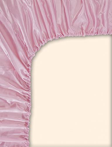 Light Pinkk 9 EliteHomeProducts EHP Super Soft /& Silky Satin Crib Fitted Sheet 28 X 52 Solid//Deep Pocket