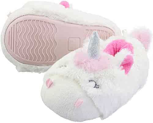 4d786cb8cb471 VLLY Girl s Lovely Faux Fur Lining Warm Soft Comfort Anti-Slip Indoor  Outdoor Slippers