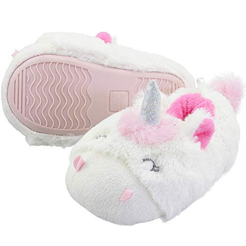 7bed9545367 VLLY Girl s Lovely Faux Fur Lining Warm Soft Comfort Anti-Slip Indoor  Outdoor Slippers