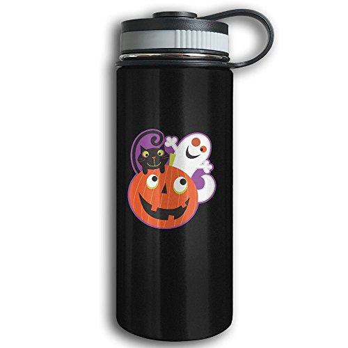Easy Halloween Costumes College Couples (Halloween Pumpkin Stainless Steel Sport Insulation Kettle With Wide Mouth - Double Walled Sport Vacuum Flask For Hot And Cold Beverages, 12-Ounce)