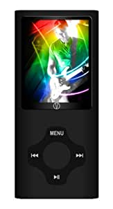 Visual Land Rave 4 GB MP3/MP4 with 2-Inch Screen, Camera, Video, Music, FM, Voice and In-Ear Headphones Combo (Black)