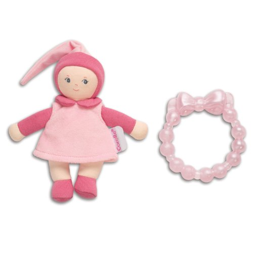 - Corolle Mini Miss and Baby Teether, Pink