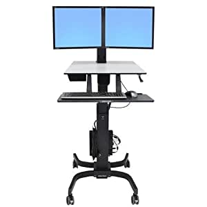 Amazon Com Ergotron Workfit C Dual Sit Stand Workstation