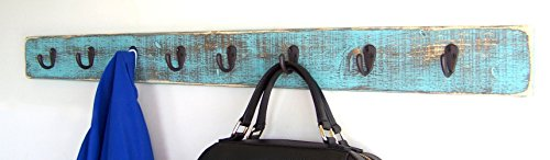 Wall Mounted Coat Rack by Out Back Craft Shack: Farmhouse Rustic Decor; Handmade in (Yellow Commercial Coat)