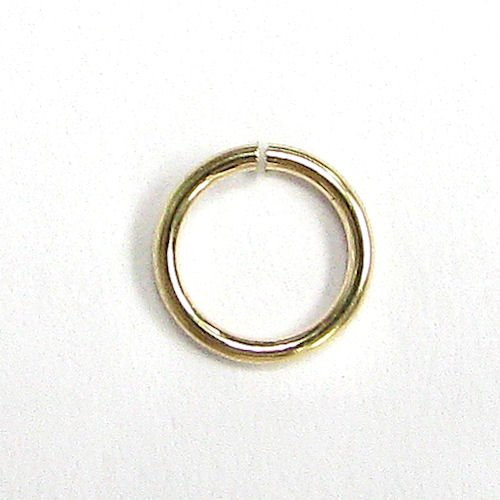 - 20 pcs 14k Gold Filled Round Open Jump Rings 5mm 22 Gauge 22ga Wire/Findings/Yellow Gold