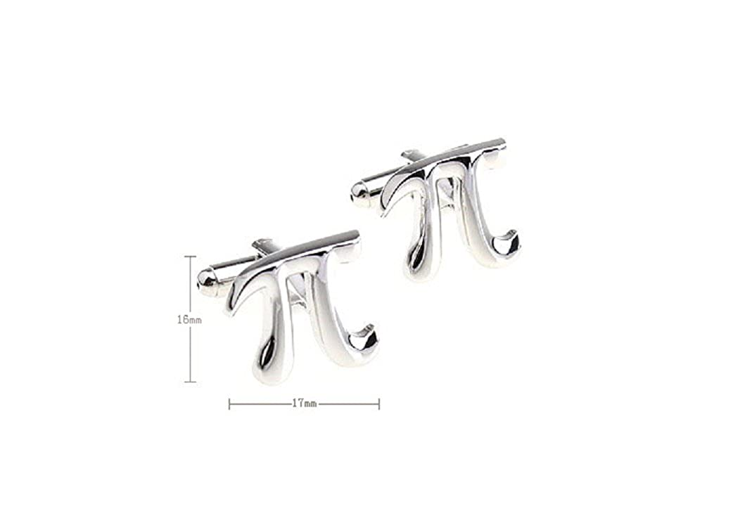 MRCUFF Pi 3.1415 Math Cufflinks Pair in a Presentation Gift Box /& Polishing Cloth