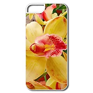 IPhone 5 5S Cases, Orchid Flower White Cases For IPhone 5/5S