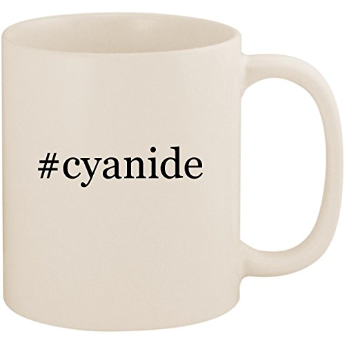 #cyanide - 11oz Ceramic Coffee Mug Cup, White (Happiness And Cyanide Calendar)