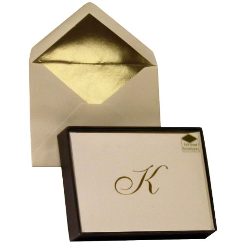 Designer Greetings Monogram Boxed Note Cards - Letter K (Monogram Paper)