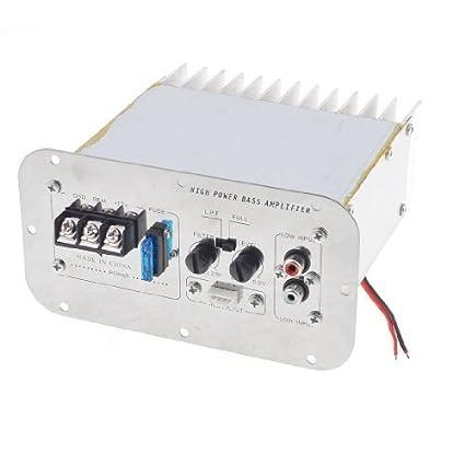 eDealMax DC 12V volumen Perilla de Control del coche estéreo Amplificador de Potencia tono de Plata