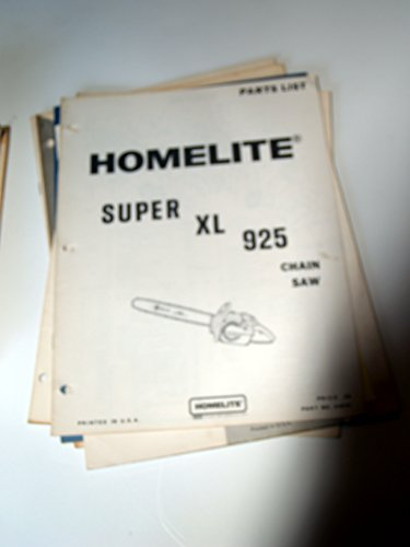 Homelite Super XL 925 Chain Saw Parts Manual List