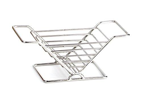 G.E.T. Enterprises 4-82021 8'' x 3.5'' V Basket, 3'' Clipper Mill, Stainless Steel