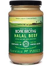 Halal Beef Bone Broth Concentrate- Natural Beef Instant Bone Broth Beverage- New Zealand Grass-Fed Beef Made in Australia 13Floz