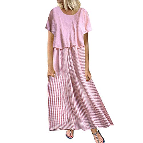 Qingell Women Dress Two Piece Suits Casual Sexy Sleeves High Waist Solid Bow Knot Shawl Coat Strap Flower Print Dress Pink